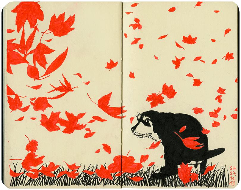 Blättergeflatter
