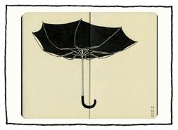 Regenschirm im Wind